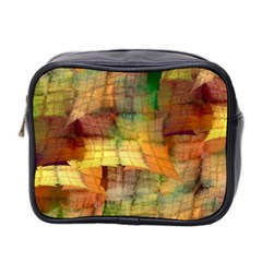 Indian Summer Funny Check Mini Toiletries Bag 2 Side