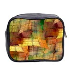 Indian Summer Funny Check Mini Toiletries Bag 2-Side Back