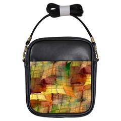 Indian Summer Funny Check Girls Sling Bags by designworld65