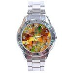 Indian Summer Funny Check Stainless Steel Analogue Watch