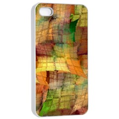 Indian Summer Funny Check Apple Iphone 4/4s Seamless Case (white) by designworld65