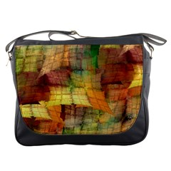 Indian Summer Funny Check Messenger Bags by designworld65
