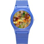 Indian Summer Funny Check Round Plastic Sport Watch (S)