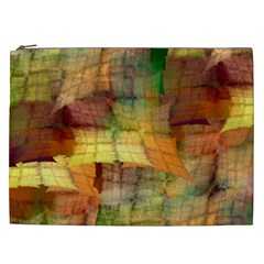 Indian Summer Funny Check Cosmetic Bag (xxl)  by designworld65