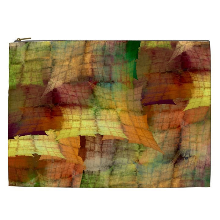 Indian Summer Funny Check Cosmetic Bag (XXL)