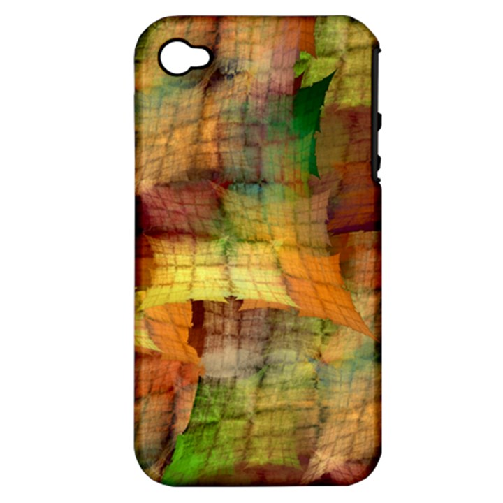 Indian Summer Funny Check Apple iPhone 4/4S Hardshell Case (PC+Silicone)