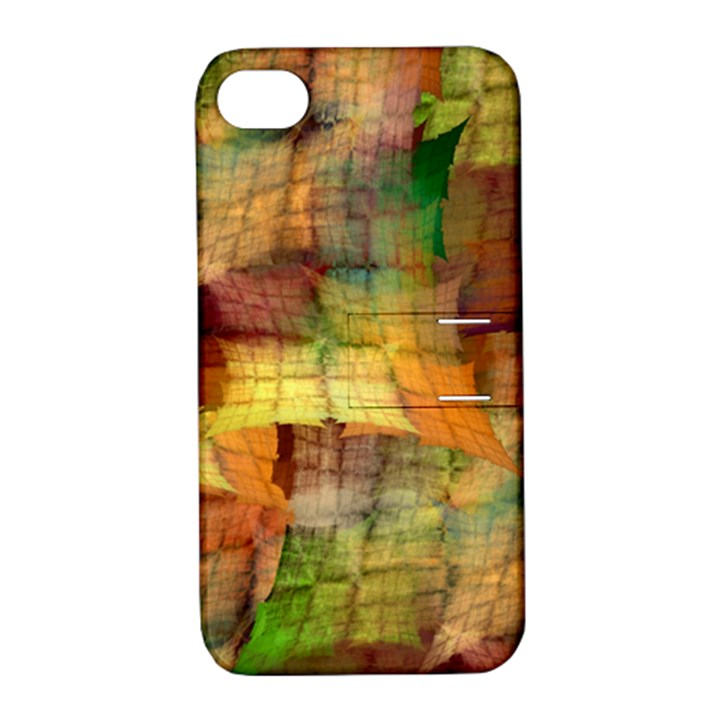 Indian Summer Funny Check Apple iPhone 4/4S Hardshell Case with Stand