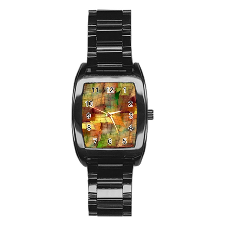 Indian Summer Funny Check Stainless Steel Barrel Watch