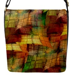 Indian Summer Funny Check Flap Messenger Bag (s) by designworld65