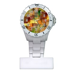 Indian Summer Funny Check Plastic Nurses Watch by designworld65