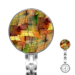 Indian Summer Funny Check Stainless Steel Nurses Watch by designworld65