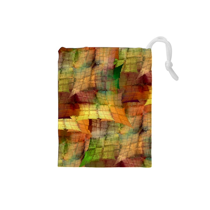 Indian Summer Funny Check Drawstring Pouches (Small)