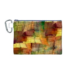 Indian Summer Funny Check Canvas Cosmetic Bag (m) by designworld65