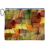 Indian Summer Funny Check Canvas Cosmetic Bag (XXXL)