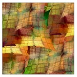 Indian Summer Funny Check Large Satin Scarf (Square) Front