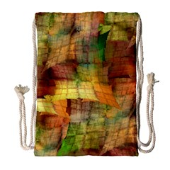 Indian Summer Funny Check Drawstring Bag (large) by designworld65