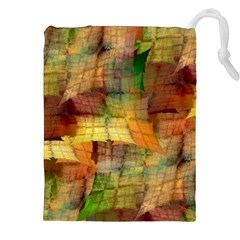 Indian Summer Funny Check Drawstring Pouches (xxl) by designworld65