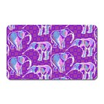 Cute Violet Elephants Pattern Magnet (Rectangular) Front