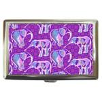 Cute Violet Elephants Pattern Cigarette Money Cases