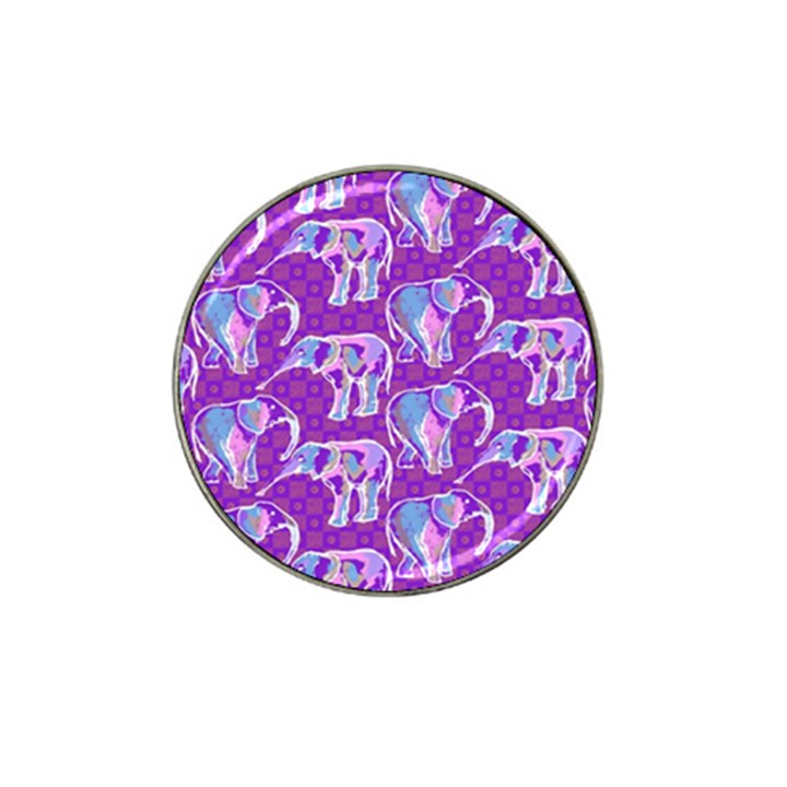Cute Violet Elephants Pattern Hat Clip Ball Marker (4 pack)