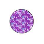 Cute Violet Elephants Pattern Hat Clip Ball Marker (10 pack) Front