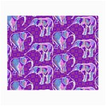 Cute Violet Elephants Pattern Small Glasses Cloth (2-Side) Front