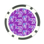 Cute Violet Elephants Pattern Poker Chip Card Guards Back
