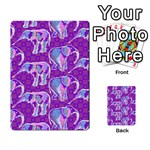 Cute Violet Elephants Pattern Multi-purpose Cards (Rectangle)  Frontback