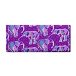 Cute Violet Elephants Pattern Hand Towel Front