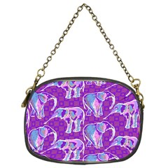 Cute Violet Elephants Pattern Chain Purses (one Side)  by DanaeStudio