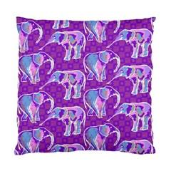 Cute Violet Elephants Pattern Standard Cushion Case (one Side) by DanaeStudio