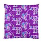 Cute Violet Elephants Pattern Standard Cushion Case (One Side)