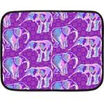 Cute Violet Elephants Pattern Fleece Blanket (Mini)