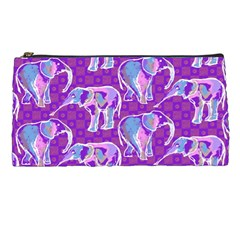 Cute Violet Elephants Pattern Pencil Cases by DanaeStudio