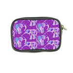 Cute Violet Elephants Pattern Coin Purse Back