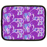 Cute Violet Elephants Pattern Netbook Case (XL)  Front