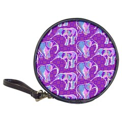 Cute Violet Elephants Pattern Classic 20 Cd Wallets by DanaeStudio
