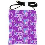 Cute Violet Elephants Pattern Shoulder Sling Bags