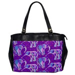 Cute Violet Elephants Pattern Office Handbags Front