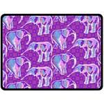 Cute Violet Elephants Pattern Fleece Blanket (Large)
