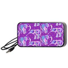 Cute Violet Elephants Pattern Portable Speaker (black)