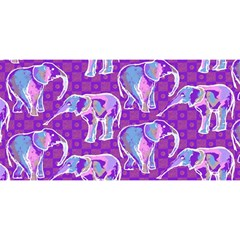 Cute Violet Elephants Pattern You Are Invited 3d Greeting Card (8x4) by DanaeStudio