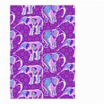 Cute Violet Elephants Pattern Small Garden Flag (Two Sides) Front