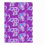 Cute Violet Elephants Pattern Large Garden Flag (Two Sides)