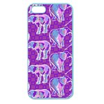 Cute Violet Elephants Pattern Apple Seamless iPhone 5 Case (Color) Front