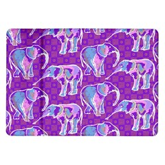 Cute Violet Elephants Pattern Samsung Galaxy Tab 10 1  P7500 Flip Case by DanaeStudio