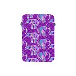 Cute Violet Elephants Pattern Apple iPad Mini Protective Soft Cases Front