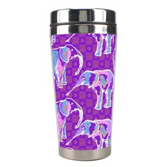 Cute Violet Elephants Pattern Stainless Steel Travel Tumblers by DanaeStudio