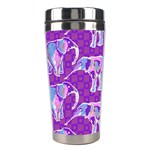 Cute Violet Elephants Pattern Stainless Steel Travel Tumblers Right