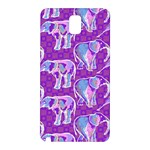 Cute Violet Elephants Pattern Samsung Galaxy Note 3 N9005 Hardshell Back Case Front